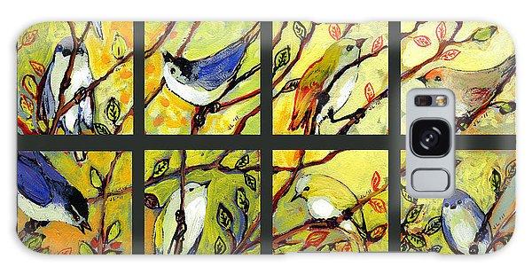 Chickadee Galaxy S8 Case - 16 Birds by Jennifer Lommers