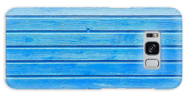 Time Frame Galaxy Case - Blue Wood by Tom Gowanlock