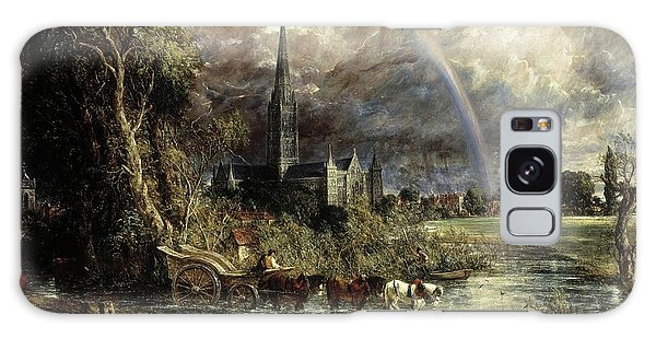 Salisbury Cathedral From The Meadows Galaxy Case