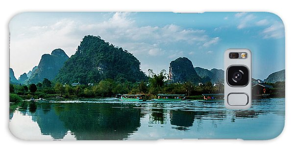 The Karst Mountains And River Scenery Galaxy Case