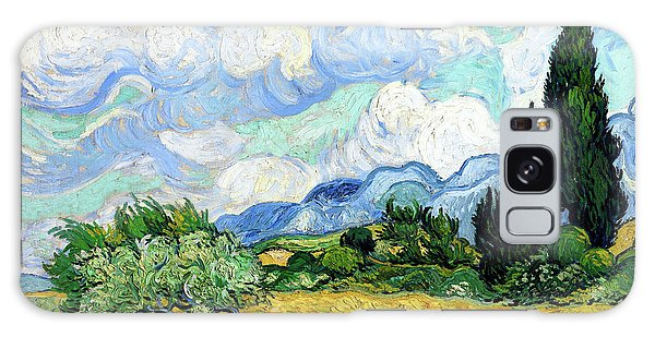 Wheat Field With Cypresses Galaxy Case