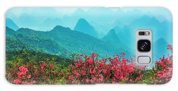 Blossoming Azalea And Mountain Scenery Galaxy Case
