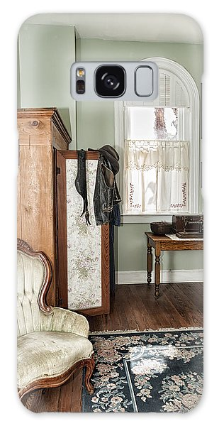 Galaxy Case featuring the photograph 1800 Closet And Chair by Linda Constant