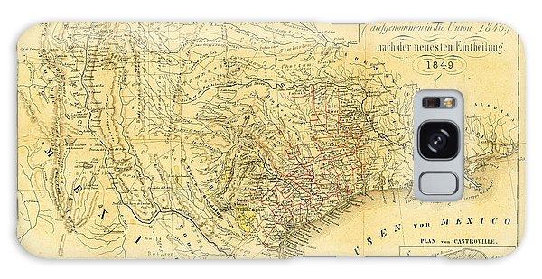 1849 Texas Map Galaxy Case