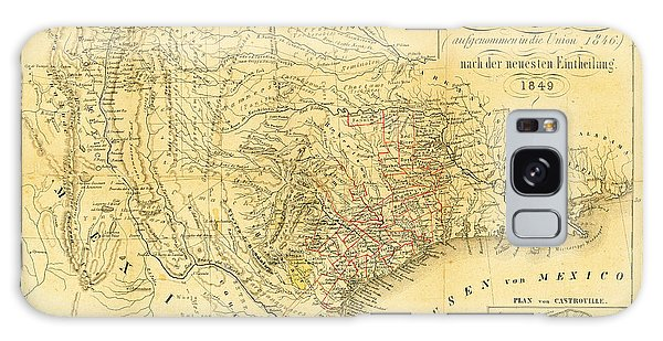 1849 Texas Map Galaxy Case