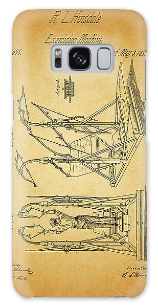 1853 Exercising Machine Patent Galaxy Case by Dan Sproul