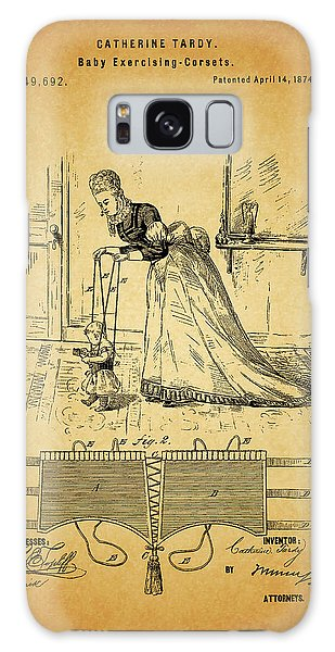 1874 Baby Exercising Corset Galaxy Case by Dan Sproul