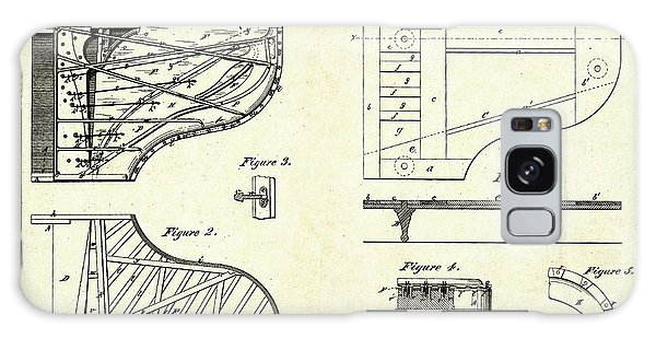 1880 Steinway Piano Forte Patent Art Sheets V2 Galaxy Case