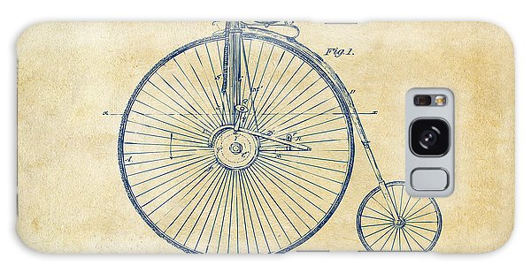 1881 Velocipede Bicycle Patent Artwork - Vintage Galaxy Case