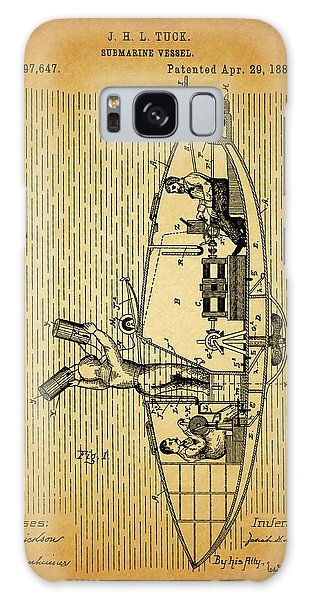 1884 Submarine Ship Patent Galaxy Case by Dan Sproul