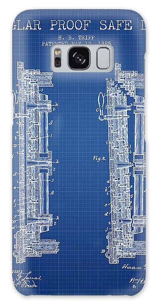 Safe Galaxy Case - 1885 Bank Safe Door Patent - Blueprint by Aged Pixel