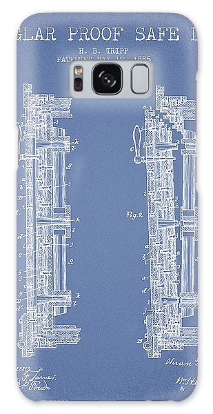 Safe Galaxy Case - 1885 Bank Safe Door Patent - Light Blue by Aged Pixel