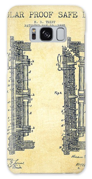 Safe Galaxy Case - 1885 Bank Safe Door Patent - Vintage by Aged Pixel