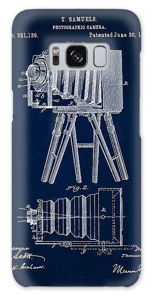 1885 Camera Us Patent Invention Drawing - Dark Blue Galaxy Case