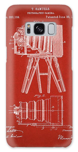 1885 Camera Us Patent Invention Drawing - Red Galaxy Case