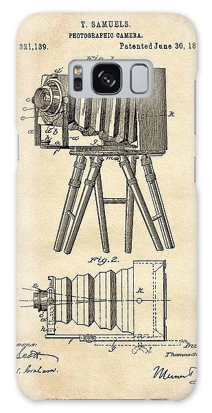 1885 Camera Us Patent Invention Drawing - Vintage Tan Galaxy Case