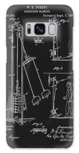 1885 Exercise Apparatus Galaxy Case by Dan Sproul