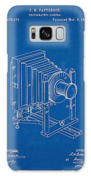 1888 Camera Us Patent Invention Drawing - Blueprint Galaxy Case