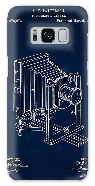 1888 Camera Us Patent Invention Drawing - Dark Blue Galaxy Case