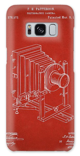 1888 Camera Us Patent Invention Drawing - Red Galaxy Case
