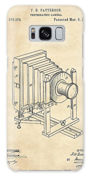 1888 Camera Us Patent Invention Drawing - Vintage Tan Galaxy Case