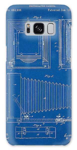 1891 Camera Us Patent Invention Drawing - Blueprint Galaxy Case