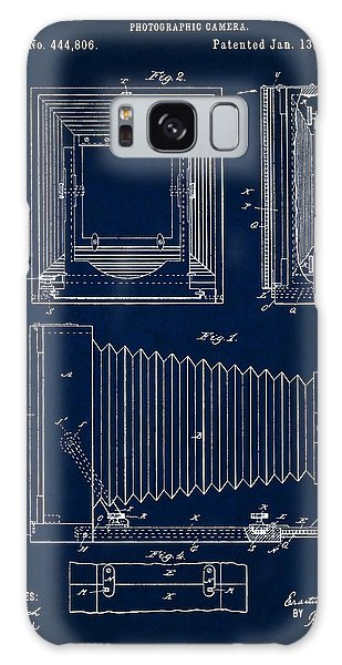 1891 Camera Us Patent Invention Drawing - Dark Blue Galaxy Case
