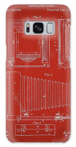1891 Camera Us Patent Invention Drawing - Red Galaxy Case