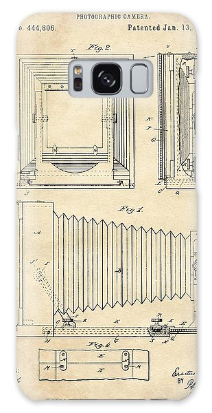 1891 Camera Us Patent Invention Drawing - Vintage Tan Galaxy Case