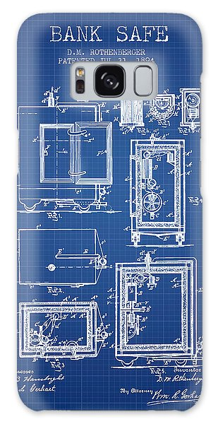 Safe Galaxy Case - 1894 Bank Safe Patent - Blueprint by Aged Pixel