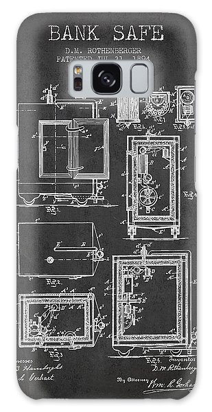 Safe Galaxy Case - 1894 Bank Safe Patent - Charcoal by Aged Pixel