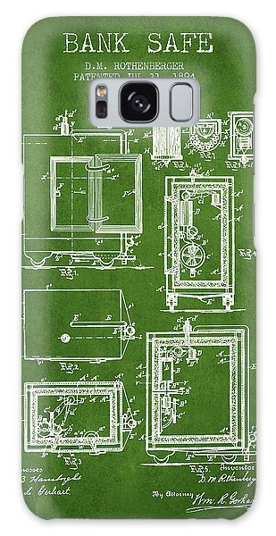 Safe Galaxy Case - 1894 Bank Safe Patent -green by Aged Pixel