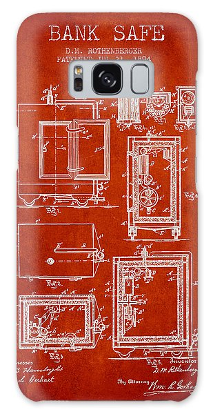 Safe Galaxy Case - 1894 Bank Safe Patent - Red by Aged Pixel