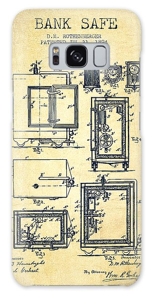 Safe Galaxy Case - 1894 Bank Safe Patent - Vintage by Aged Pixel