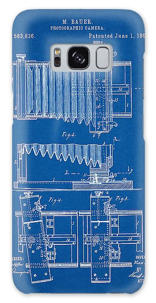 1897 Camera Us Patent Invention Drawing - Blueprint Galaxy Case