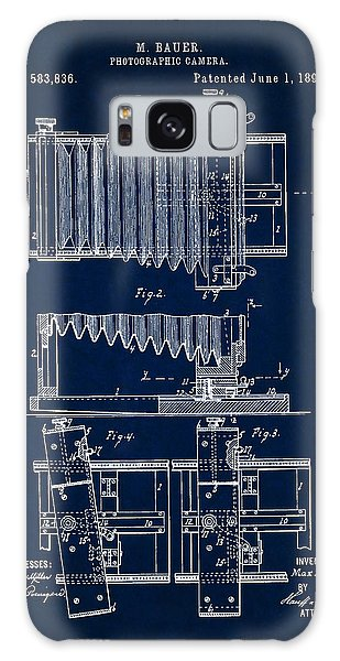1897 Camera Us Patent Invention Drawing - Dark Blue Galaxy Case