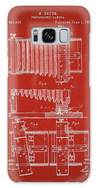 1897 Camera Us Patent Invention Drawing - Red Galaxy Case