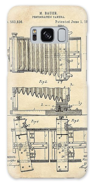 1897 Camera Us Patent Invention Drawing - Vintage Tan Galaxy Case