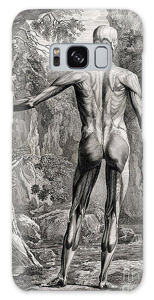 18th Century Anatomical Engraving Galaxy Case