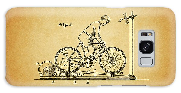 1900 Bicycle Exercise Stand Galaxy Case by Dan Sproul