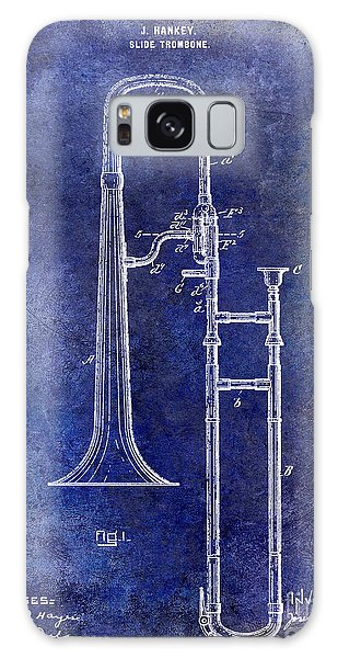 Trombone Galaxy Case - 1902 Trombone Patent Blue by Jon Neidert