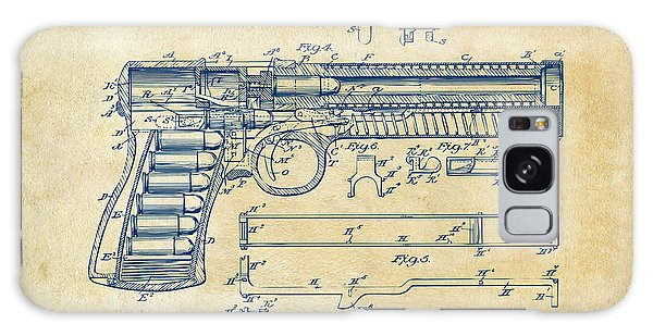 Weapons Galaxy Case - 1903 Mcclean Pistol Patent Artwork - Vintage by Nikki Marie Smith