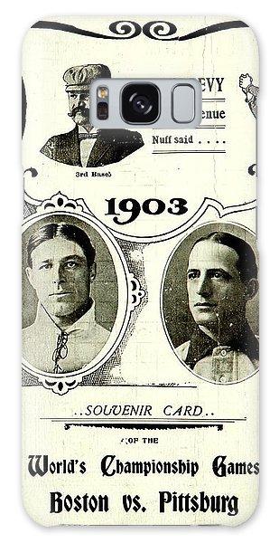 1903 World Series Poster Galaxy Case