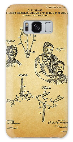 1904 Dental Forceps Patent Galaxy Case by Dan Sproul