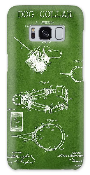 Leash Galaxy Case - 1904 Dog Collar Patent - Green by Aged Pixel