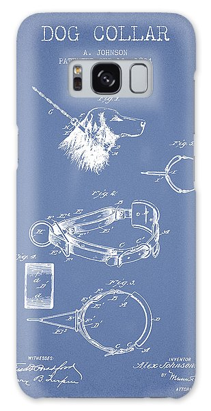Leash Galaxy Case - 1904 Dog Collar Patent - Light Blue by Aged Pixel