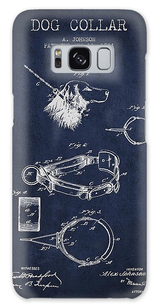 Leash Galaxy Case - 1904 Dog Collar Patent - Navy Blue by Aged Pixel
