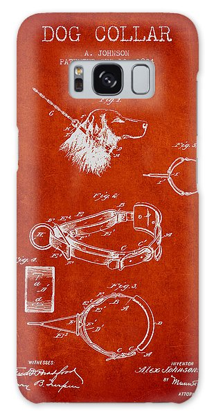 Leash Galaxy Case - 1904 Dog Collar Patent - Red by Aged Pixel