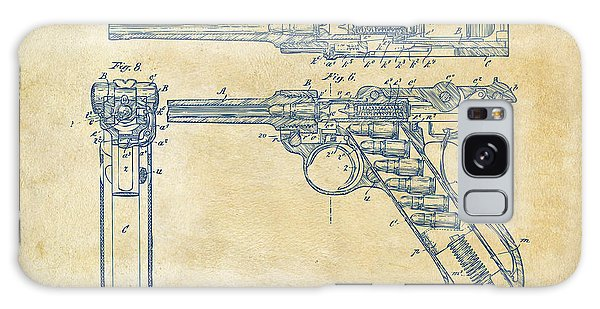 Weapons Galaxy Case - 1904 Luger Recoil Loading Small Arms Patent - Vintage by Nikki Marie Smith