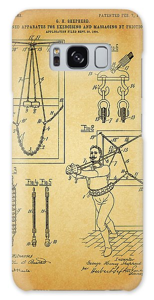 1905 Exercise Apparatus Patent Galaxy Case by Dan Sproul
